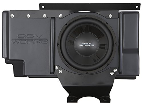 SSV Works Polaris RZR XP-1000 2 and 4 seat Behind the Seat Subwoofer Enclosure INCLUDES 10