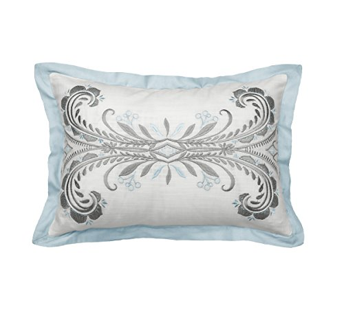 Beautyrest Arlee Embroidered Decorative Pillow, 12 x 18, Spa