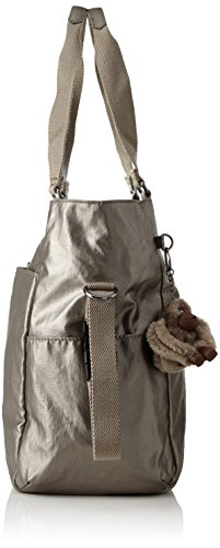 Pewter Metallic Baby Flower Print BABY Changing ADORA Kipling Bag Small zqC4R