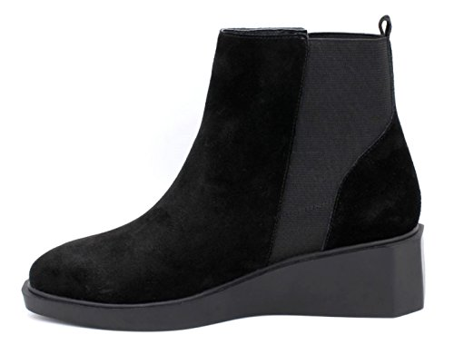 Pull Betsy Ankle Cuña Boot On Octavia Black Negro Suede 7qwnRqgBA