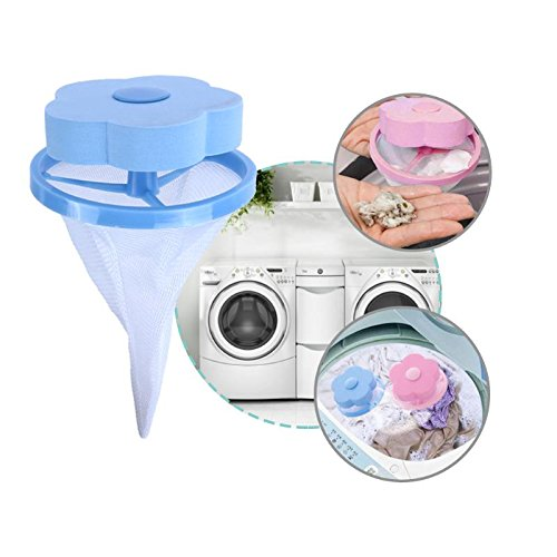 JPONLINE Flower Shape Mesh Filter Bag Laundry Ball Floating Style Washing Machine Filtration Hair Removal Device House Cleaning Tools