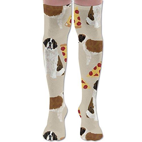 LOIOI67 Saint Bernard Dog Breed Athletic Tube Stockings Women's Men's Classics Knee High Socks Sport Long Sock One Size -
