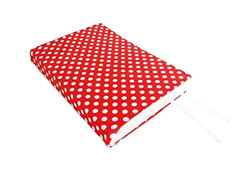 6'' TRADE Size Paperback Book Cover in RED DOTS Stretch Fabric Book Cover, Small Book Sleeve, Red Book Covers by SEWING the ABCs