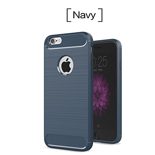 Iphone 6/6s 4.7 Inch Case Cover,Slim Soft Interior Silicone Rubber Bumper Shell Cover ShockProof Anti-Scratch Skid-proof Back Skin Protective (Dark - Dark Gray Blue