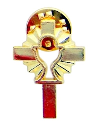 Cross with Chalice Lapel Pin Chalice Lapel Pin