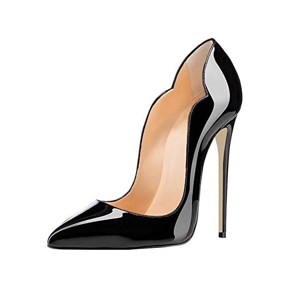 EDEFS Scarpe col Tacco Donna Classico Ritaglio High Heels Chiuse Davanti Scarpa 1