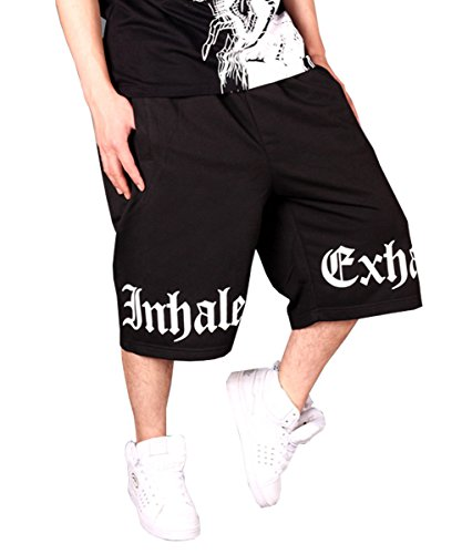 QBO Men's Hip Hop Dancing Baggy Sport Shorts Sweatpant-black-3XL by QBO