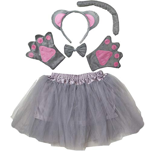 Kirei Sui Kids Animal Costume Tutu Set Gray Mouse