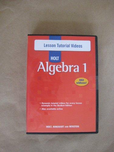 Holt Algebra 1: Lesson Tutorial Videos CD-ROM