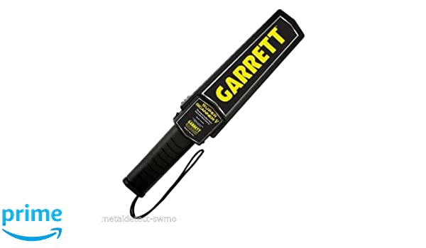 Amazon.com: Garrett Metal Detectors Hand-Held Metal Detector, Plastic ABS With Rubber Grip 1165190 - 1 Each: Office Products
