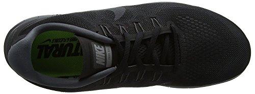 Nike Heren Gratis Rn 2017 Hardloopschoen Zwart / Antraciet-donkergrijs-cool Grey 15.0