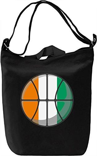 Ivory Coast Basketball Borsa Giornaliera Canvas Canvas Day Bag| 100% Premium Cotton Canvas| DTG Printing|