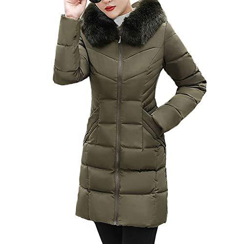 Donna 3xl Giacche Corta Puffer Plus Army Size Cappotti Burfly Moda Slim Solid Inverno Per Capispalla ~ Fit Capispalla 2 Caldo S Donna Jacket Cappotto Casual Green Down p7dxn