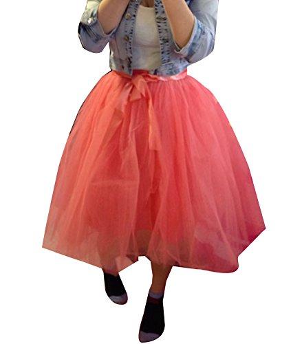 Jupe Tulle Multi Elastic 6 Ceinture Couches couche Femme Bubble Princesse Wmrouge Ballet Tutu Laozan Tdqx1AA