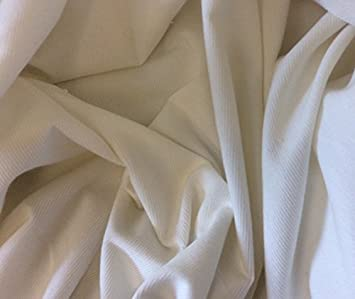 "1m White   Needlecord   Fabric  57/"" 146 cms - 220gsm 18 Wale"