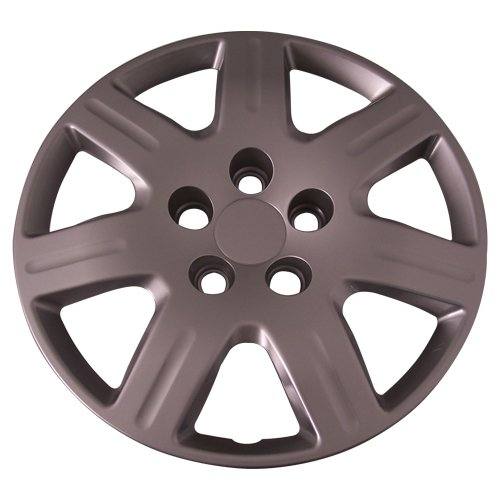 Set of 4 Silver 16 Inch 7 Spoke Replacement Honda Civic Hubcaps w/ Bolt On Retention System - Aftermarket: IWC452/16S by IWC (Image #4)