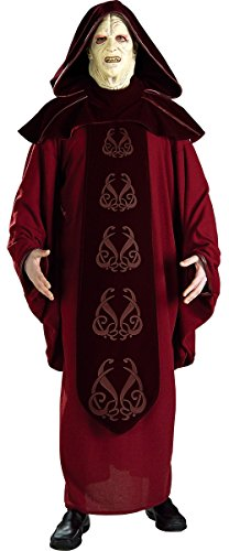 Rubie's Costume Men's Star Wars Supreme Edition Adult Emperor Palpatine and Mask, Multicolor, (Emperor Palpatine Mask)