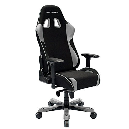 DXRacer King Series Big and Tall Chair DOH/KS11/NG Office Chair Gaming Chair Ergonomic Computer Chair Esports Desk Chair Executive Chair Furniture with Free Cushions (Black/Grey) DXRACER USA LLC