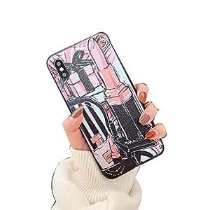 Amazon com: Luxury Lipstick Cosmetics Perfume Leather Phone Case for
