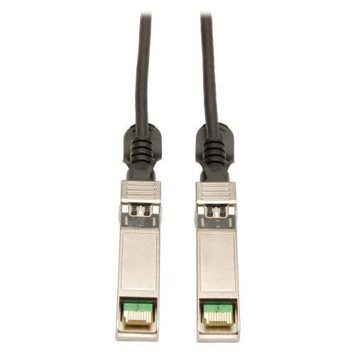 Tripp Lite SFP+ 10Gbase-CU Passive Twinax Copper Cable, Cisco Compatible SFP-H10GB-CU2M, Black 2M (6-ft.) (N280-02M-BK) by Tripp Lite
