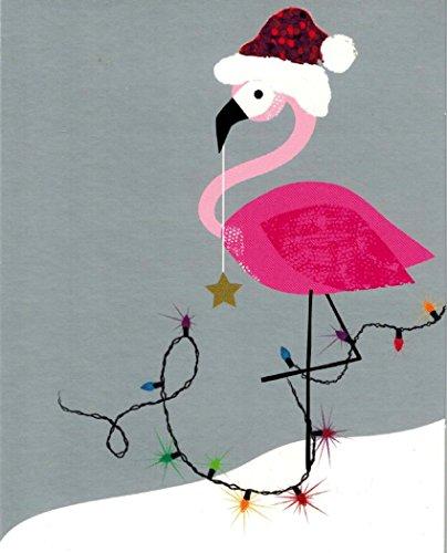 Flamingo Christmas Cards.Amazon Com Flamingo Holiday Cards Santamingo Box Of 15