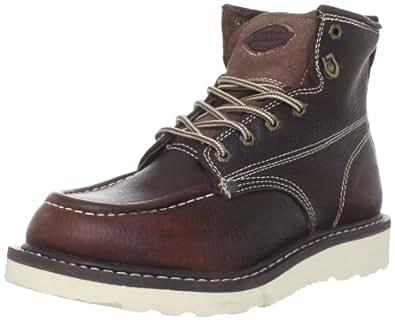 "Dickies Men's Trader 6"" Leather Boot,Burgandy,7 M US"