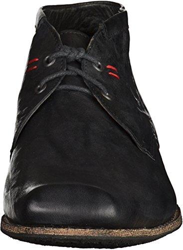 Think! Guru - Zapatos de cordones de cuero para hombre negro - negro