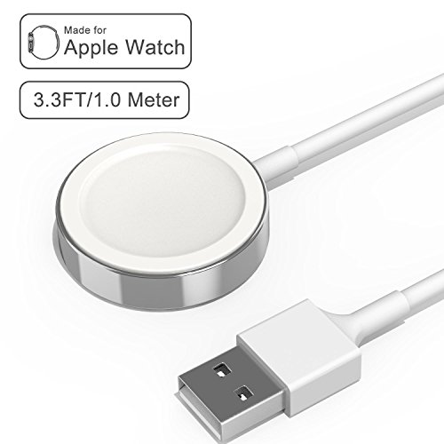 Apple Watch iWatch Charger, Apple MFi Certified 3.3 ft/1.0m Magnetic Wireless Charger Charging Cable Cord for Apple Watch 3 2 1 All 38mm 42mm iWatch