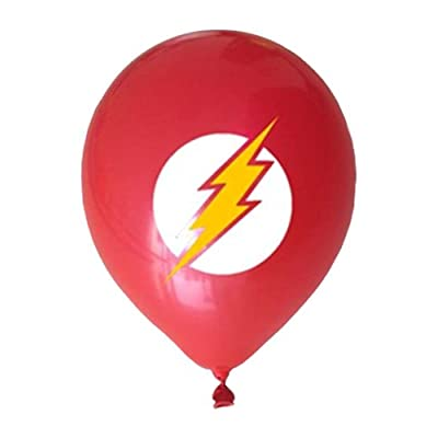 Justice League Superhero Emblem 21 Count Party Balloon Pack - Large 12