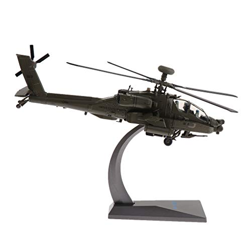 SM SunniMix Diecast Apache Helicopter Model 1/72 Scale, American Airforce Aircraft Army Model Toy Soldier Playset ()