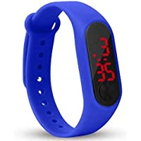 Watch for Kids/Mens Black/Red/Blue/White Colour Silicone Digital LED Bracelet Band Wrist Watch for Kids, Boys/Men/Girls/Digital Watch Men Women skmi Children Watches for Girls