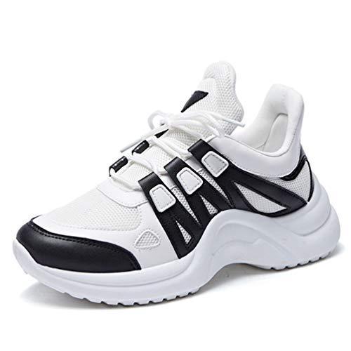 Zapatillas zapatos de de gruesa la zapatos de aumentados de mujeres de las la de inferior de deporte de del malla versión los coreana mujeres parte tamaño la Azul las zapato los gran femenina estudiante de rXXwOzdFqp