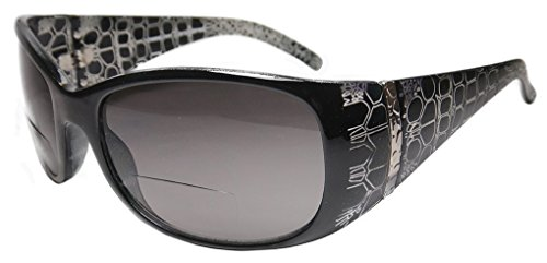 Bifocal Reading Sunglasses New Tinted Fashion Man Woman Outside Sun Reader (Black, - Sunglasses 1.75