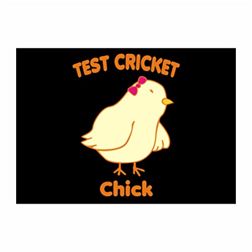 Teeburon Test Cricket CHICK Pack of 4 Stickers - Cricket Chick