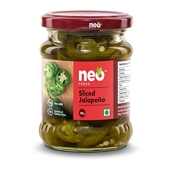 Neo Foods Sliced Jalapeno 180g Pack of 2