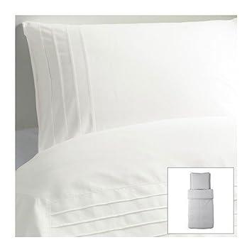 Ikea Bettwäsche Set Alvine Strå Weiß 140x200cm Und 80x80cm