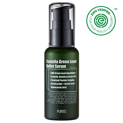 PURITO Centella Green Level Buffect Serum 60ml/ 2 fl oz, serum for face, Centella Asiatica,Recovery facial SERUM,Calming ()