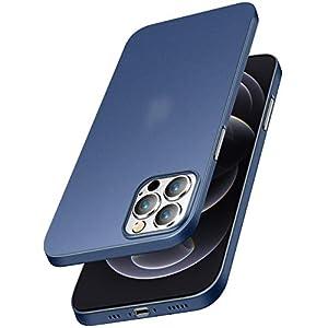 EGOTUDE Back Cover for iphone 12/iphone 12 Pro(TPU+Plastic/Blue)