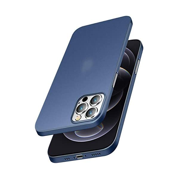 EGOTUDE Back Cover for iphone 12/iphone 12 Pro(TPU+Plastic/Blue) 2021 July Compatible with iPhone 12 as well as iPhone 12 Pro 6.1 inches Color: Frosted Blue Egotude specialized ultra thin high quality guaranteed, Feels good in hands like there is no case at all on your phone