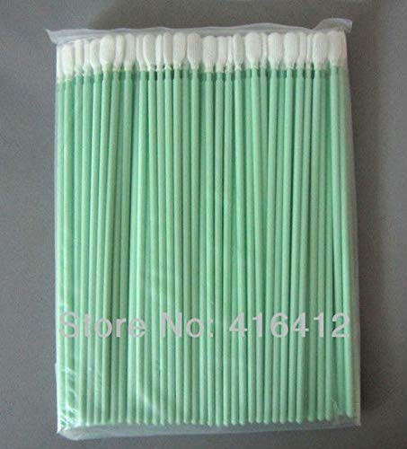 Yoton - 100 pcs Long Antistatic Cleanroom Polyester Swab Alternative to ITW Texwipe TX761 Long Handle Alpha Swab