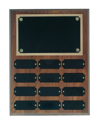 Genuine Walnut Perpetual Plaque - 12 Plate Perpetual Plaque 9