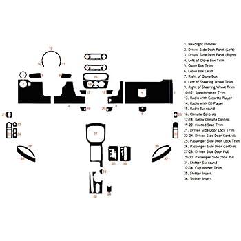 Honey Burlwood Rdash Wood Grain Dash Kit for Volkswagen Jetta 2011-2014