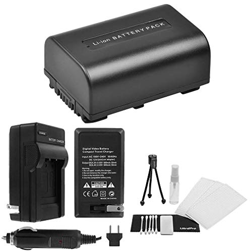 Travel Camcorders - NP-FV50 High-Capacity Replacement Battery with Rapid Travel Charger for Select Sony Camcorders. UltraPro Bundle Includes: Camera Cleaning Kit, Screen Protector, Mini Travel Tripod