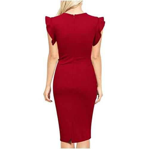 Frauen Abendkleider Cocktailkleider Kurzarm Slim Fit Kleider ...