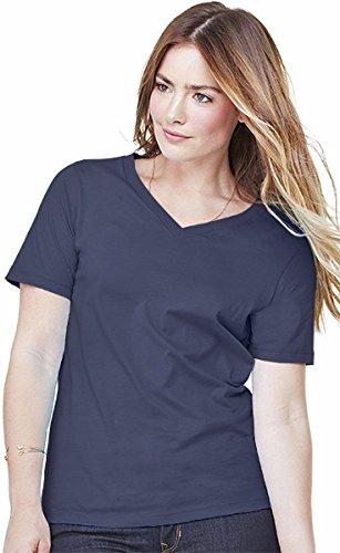 Bella Ladies 4.2 oz. Missy Short-Sleeve V-Neck Jersey T-Shirt