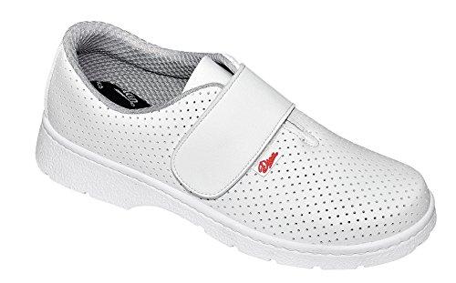 Dian 1807-lm - Zapato de trabajo unisex-adulto blanco