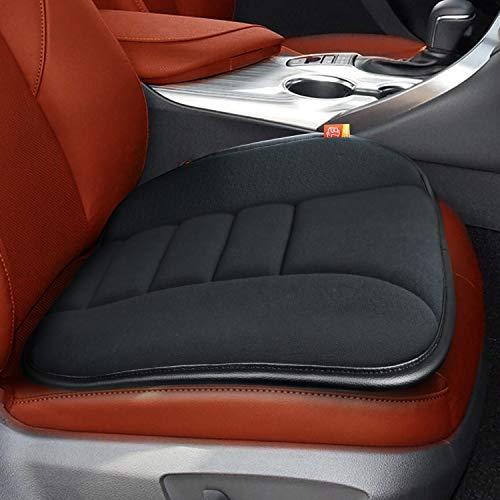 RaoRanDang Car Seat Cushion Pad for Car Driver Seat Office Chair Home Use Memory Foam Seat Cushion (Upgrade 5 cm, A Black)