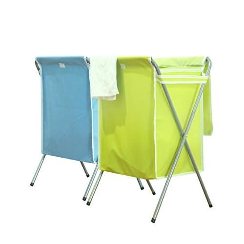 WTL Storage basket Pliant couvert avec épaissi tissu Oxford vêtements sales panier 2 ensembles ( Couleur : 2 )