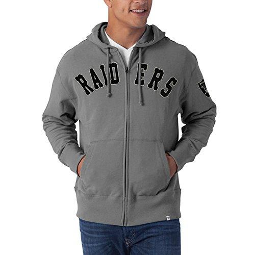 NFL Oakland Raiders Men's Striker Full Zip Jacket, Medium, Wolf Grey Light Twill Assortment