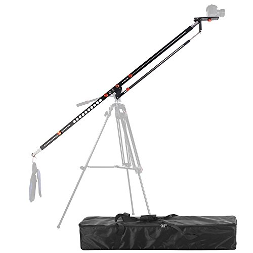 ASHANKS Camera Jib Crane 9.8ft/3m Mini Carbon Fiber Extendable Jib Tilt Arm Video Supports Stabilizers for DSLR Camera Camcorder Video Movie Film Making by ASHANKS